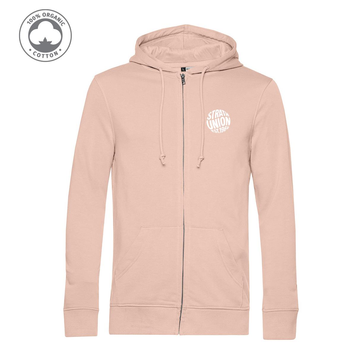 Organic Zipped Embroidered Hoodie